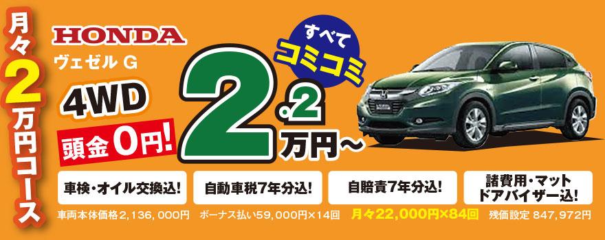 月々2万円コース